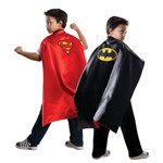 Batman and Superman Reversible Satin Cape