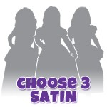Pick 3 SATIN Princess Dresses