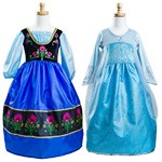 Elsa and Anna Replica Dress Up Set