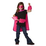 Pink Supergirl Wrist Cuffs and Belt Set