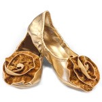 Gold Rose Princess Flats