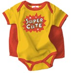 Infant and Toddler Yellow Superhero with Cape