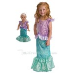Little Mermaid Ariel Replica Child and Doll Costume Set