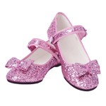 OVERSTOCKED! Pink Glitter Flats Child SIZE 1