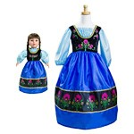 Princess Anna Replica Child and Doll Dress Set
