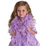 Purple Chandelle Feather Boa