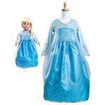 Queen Elsa Replica Child and Doll Dress Set