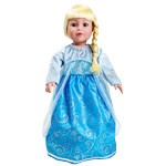 Queen Elsa Replica Doll Dress