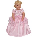 Royal Pink Ballgown Doll Dress