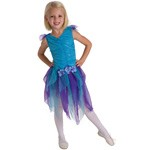 Teal Blue Flower Fairy Dress Up Costume