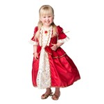 Toddler Red Winter Belle Dress Up Costume
