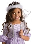White Princess Tiara and Wand Accessory Set