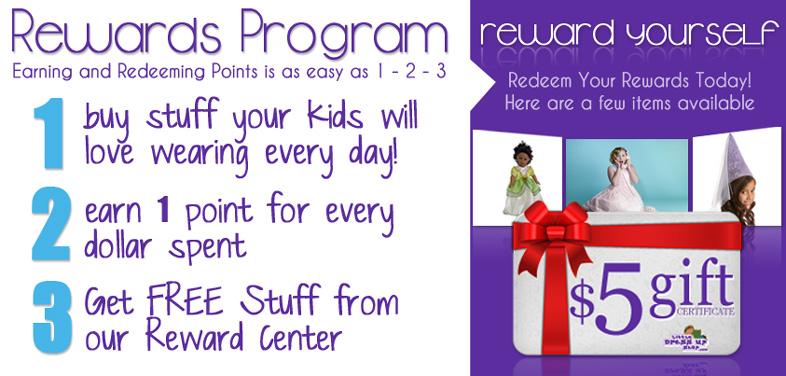 Little Dress Up Shop Rewards Program