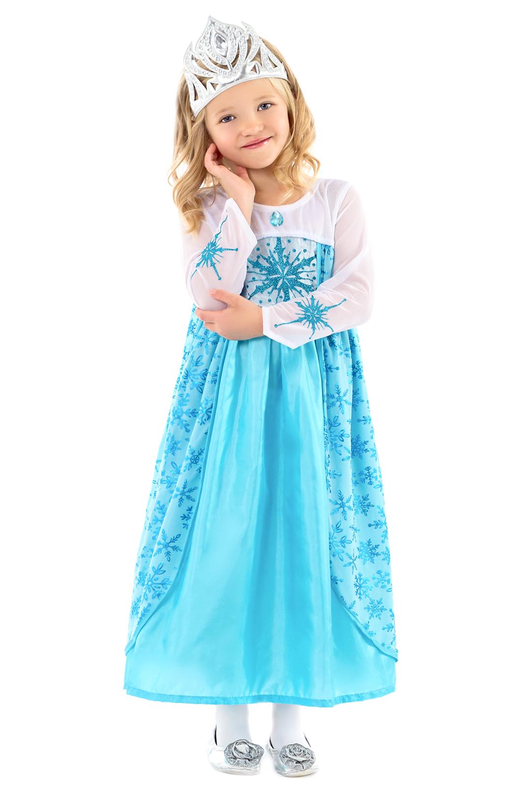 Elsa Ice Princess Set Costume Gloves Crown Plait Elsa New