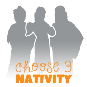 3 Piece Nativity Dress Up Costumes Set
