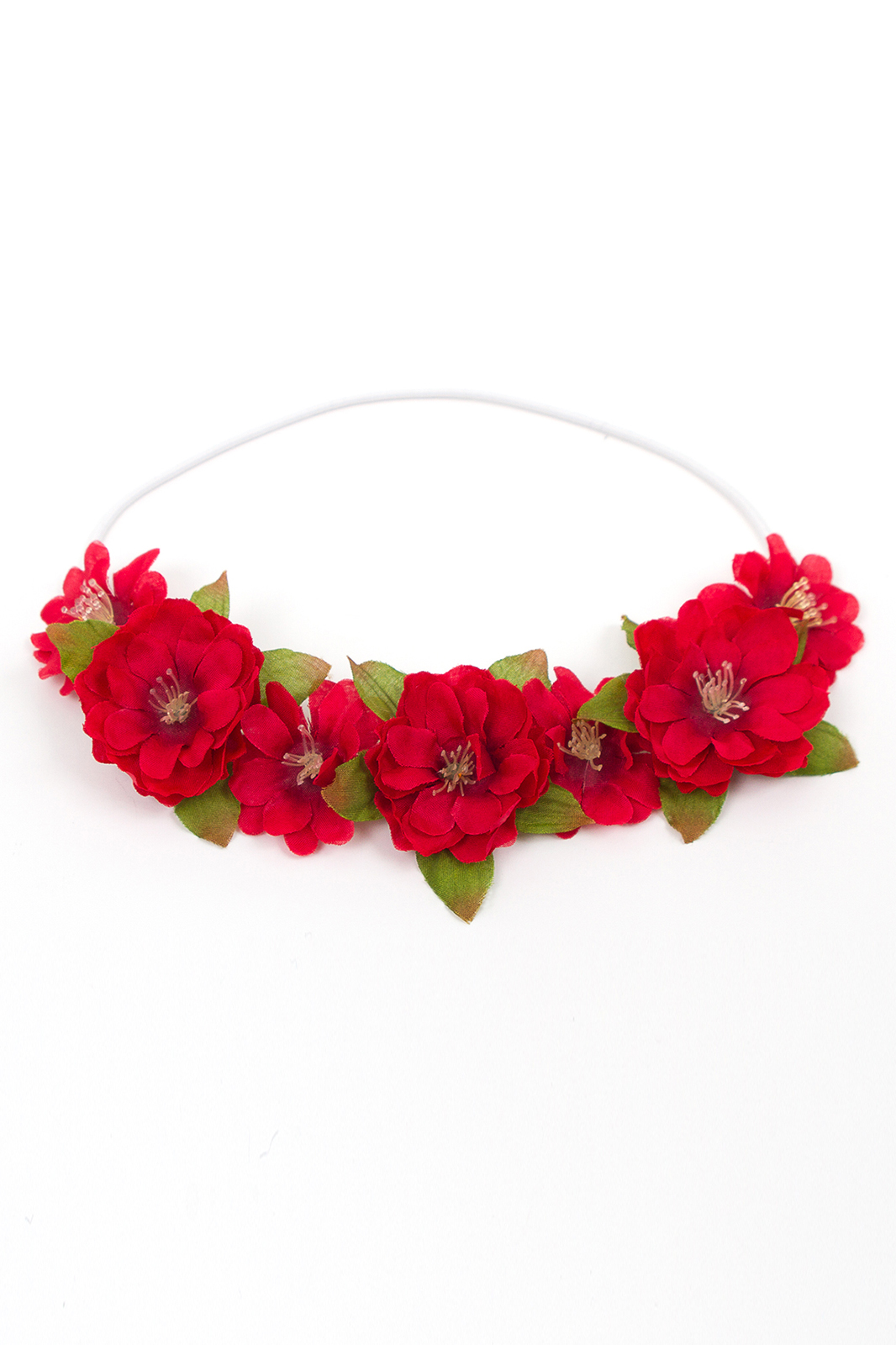 Red Rose Mermaid Scale Maille Flower Crown