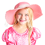 TEMP DISCONTINUED Classic Lace Tea Party Hat -  Dusty Pink