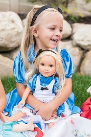 Alice in Wonderland Dress for Child and Doll