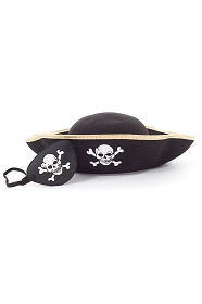 Pirate Hat and Eyepatch Accessory Set