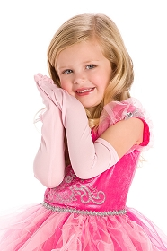 Long Pink Princess Gloves