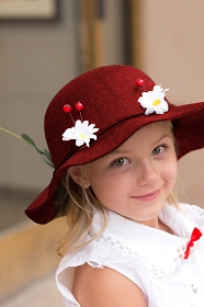 Red Mary Poppins Hat
