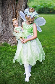 Tinkerbell  Child and Doll Costume Set