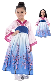 Mulan Child and Doll Dress Set