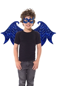 Blue Dragon Wings and Mask