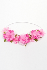 Bright Pink Flower Crown