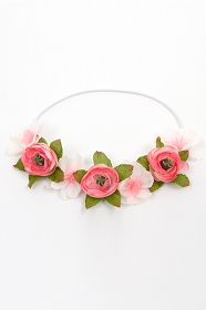 Coral Pink Flower Crown