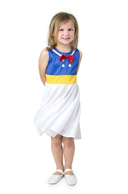 Twirly Girl Cartoon Sailor Dress