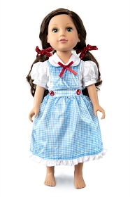 Kansas Farm Girl Doll Dress