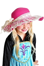 Classic Lace Tea Party Hat - Magenta