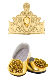 Gold Tiara and Shoes for DOLLS!!!