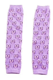 Lilac and Pink Bow Leg Warmers