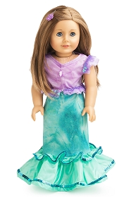 Little Mermaid 2-Piece Doll Dress