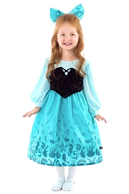 Little Mermaid's Blue Lagoon Dress