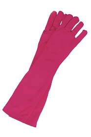 Long Bright Pink Princess Gloves