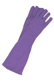 Long Purple Princess Gloves