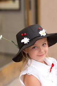 Black Mary Poppins Hat