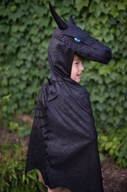 Midnight Dragon Cloak with Plush Hood