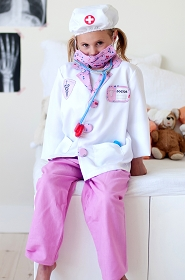 Pink Play Doctor Scrubs Set with Jacket