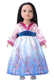 Mulan Doll Dress