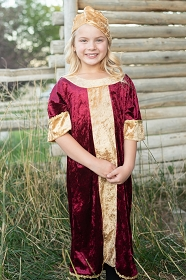 Burgundy Wiseman Nativity Costume
