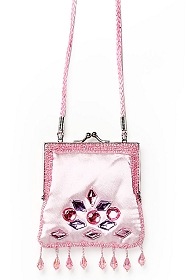 Pink Jewel Shoulder Bag for Girls