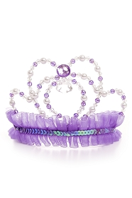 Purple Jewel and Pearl Tiara