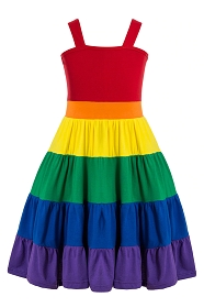 Rainbow Ruffle Tank Dress