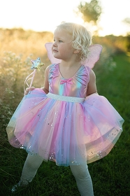 Rainbow Twinkle Skirt with Wings and Star Wand