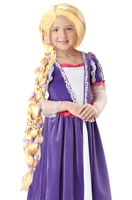 Rapunzel Braided Wig with Flowers