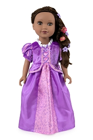 Rapunzel Doll Dress - Short Sleeve Style